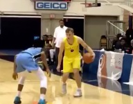 Mac McClung was so hot he even hit a blind throwaway shot in Kenner League
