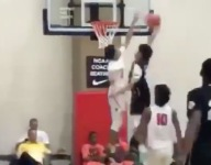 VIDEO: James Bouknight of the PSA Cardinals had a retro JaVale McGee-like block at Peach Jam