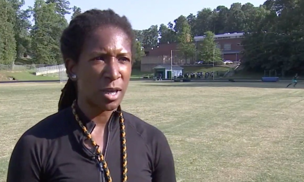 New Enloe WR coach Keshia Smith (Photo: WTVD video screen shot)