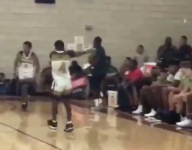 Bless this middle schooler who hit a shot and celebrated in LeBron's face
