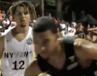 Kyrie Irving showed up for NY vs. NY at Rucker Park, then Cole Anthony showed out