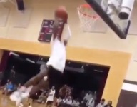 VIDEO: A week after his first dunk, LeBron 'Bronny' James Jr. is throwing down self alley oops