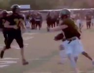 VIDEO: Norman North RB Blaine Martin scores scrimmage TD, points out key goal line block