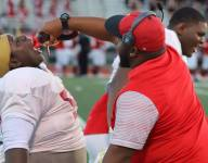 Georgia OL coach is giving his linemen shots of actual maple syrup for pancake blocks
