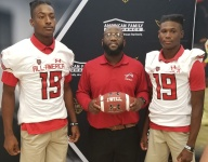 Chaminade-Madonna's John Dunmore, Te'Cory Couch receiver Under Armor All-American jerseys