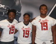IMG Academy players receive their Under Armour All-American jerseys