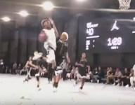 VIDEO: LeBron 'Bronny' James Jr. channels Dad on wild block at the rim