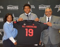 4-star OL Caedan Wallace receives All-American Bowl jersey, looks forward to bringing 'aggressive' blocking to Happy Valley
