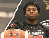 Chosen 25 OT Kenyon Green receives UA All-American jersey, thrilled to be a future Aggie