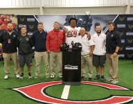 4-star OL Keiondre Jones receives Under Armour All-American jersey