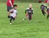 VIDEO: Antonio Brown has a son named Autonomy who is tough to tackle