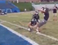 VIDEO: N.C. HS kicker connects on 65-yard field goal in warmups