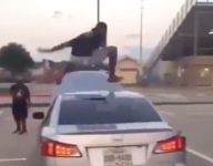 VIDEO: LSU football commit Marcel Brooks is out here leaping over cars