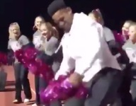 VIDEO: Steelers WR Juju Smith-Schuster joins HS cheerleaders, band on sideline