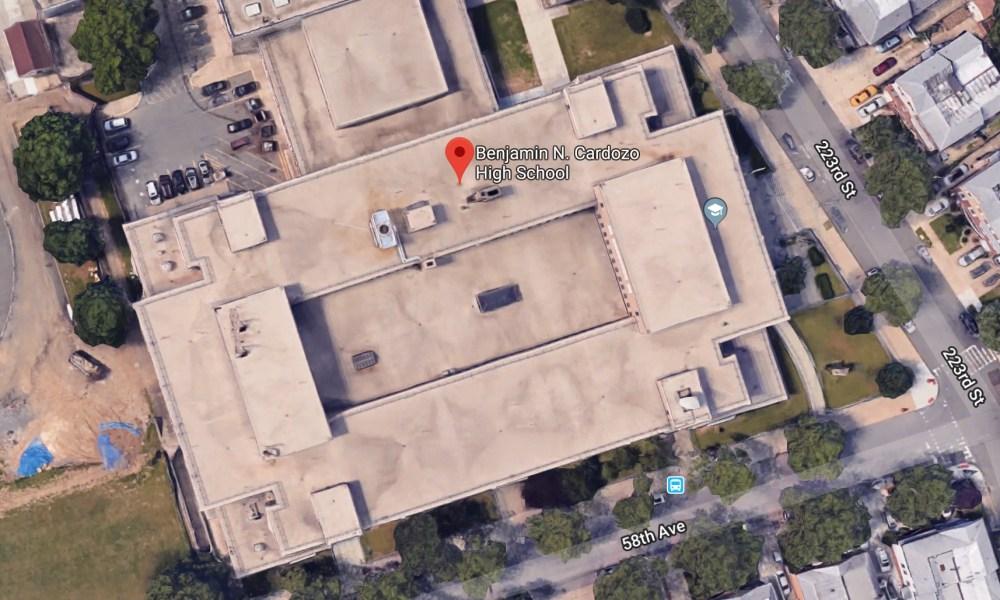 Benjamin Cardozo High School in Queens (Photo: Google Earth)