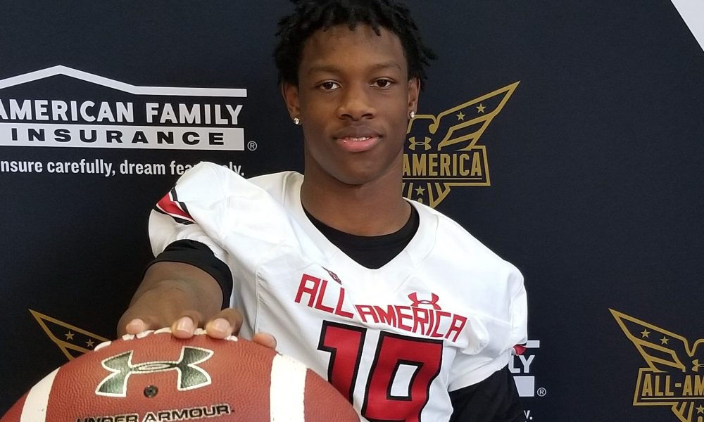 Jameson Williams, the wide receiver for Cardinal Ritter College Prep (Photo: Intersport)