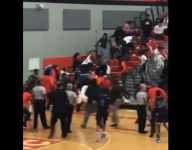 High school basketball fight spills into stands; tournament cancelled
