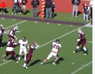 VIDEO: A Texas DE pulls off masterful interception return for TD