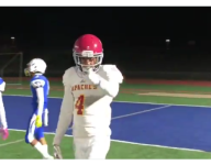 VIDEO: Calif. WR does a mean Randy Moss impression on reception