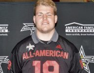 4-star OL Bryce Benhart receives All-American Bowl jersey, thrilled for what's to come at Nebraska