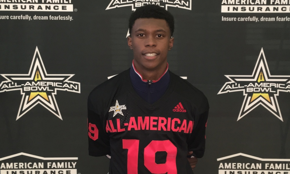 """Westwood defensive back Cameron """"Cam"""" Smith receives his All-American Bowl jersey (Photo: All American Games)"""