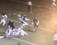 WATCH: Arkansas quarterback Justice Hill hurdles defender, scores TD