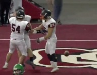 VIDEO: Huron (S.D.) somehow scores TD on deflected pass in state title game