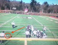 VIDEO: Mass. HS Thanksgiving game features bizarre fumble recovery