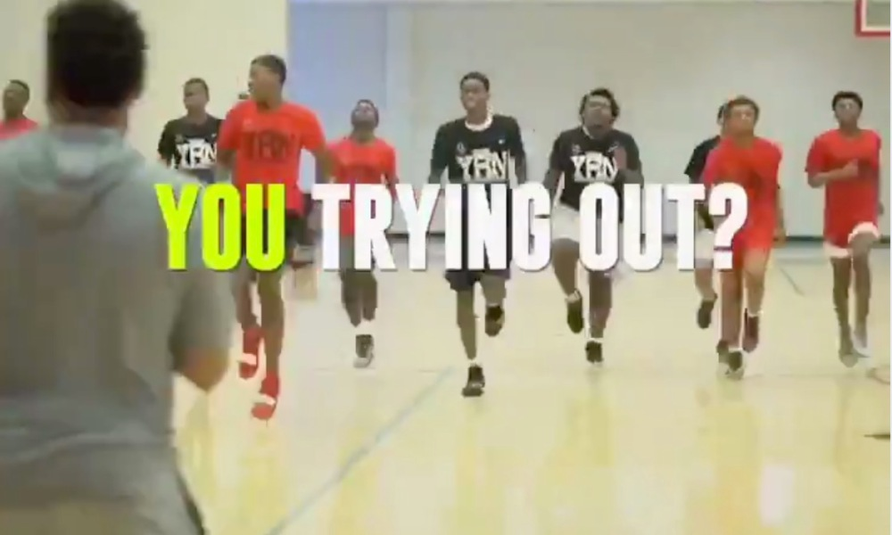 Quavo's AAU team, YRN, in tryouts (Photo: @overtime/Twitter)