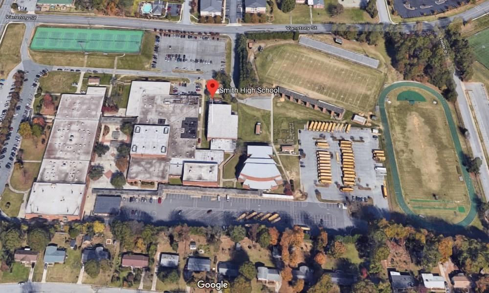 Smith High School in North Carolina (Photo: Google Earth)
