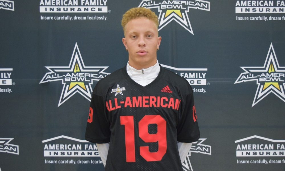 Chosen 25 Qb Spencer Rattler Receives All American Bowl Jersey