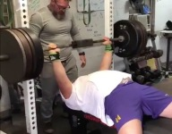 VIDEO: Watch Fla. HS DT Angelu Nunu bench 500 pounds with ease