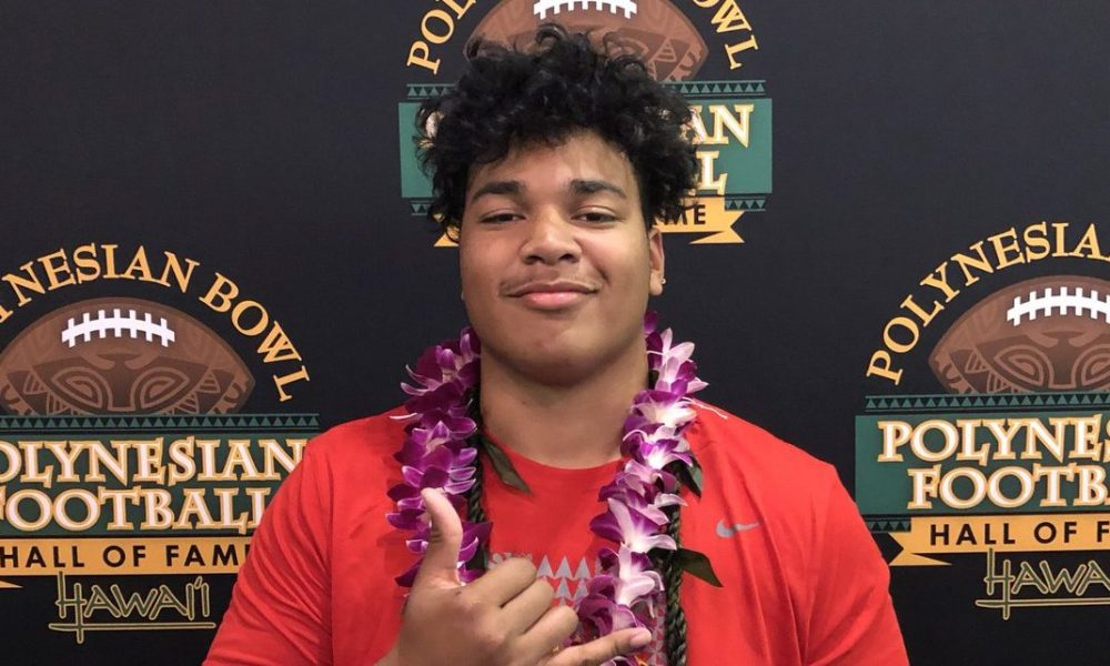 McDonogh School DT D'Von Ellies at the 2019 Polynesian Bowl (Photo: Polynesian Bowl)