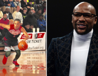 Julian Newman takes on Floyd Mayweather at Celebrity Pro-Bowl Showdown