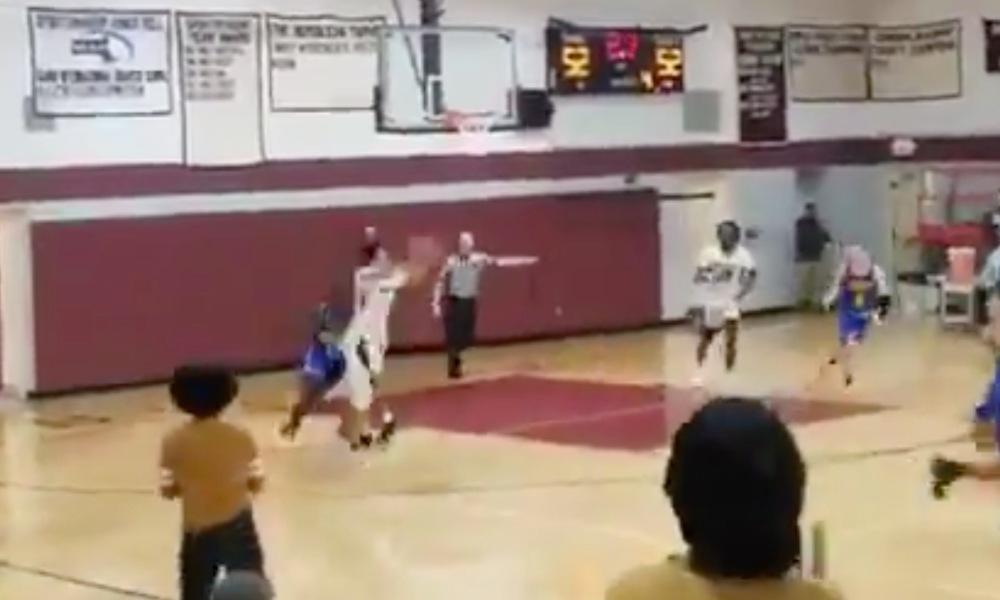 Sabis guard Tre Hodge somehow hit a Hail Mary to top Chicopee Comp (Photo: @overtime/Twitter)