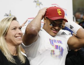 Chosen 25 WR Bru McCoy commits to USC at All-American Bowl
