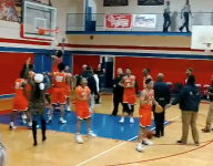 Arkansas HS team starts ruckus by cutting down nets at defeated foe after clinching conference