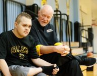 HS team rallies around coach's son who has Down syndrome, is fighting leukemia