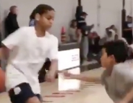 VIDEO: Don't look now, but Carmelo Anthony's son Kiyan can really play