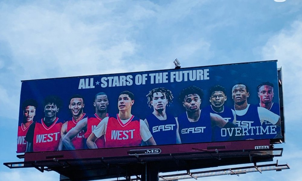 Overtime's All-Star Weekend billboard (Photo: Overtime)