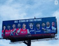 Overtime launches enormous billboard with high school stars for NBA All-Star Weekend
