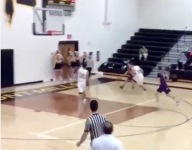 VIDEO: Nebraska City's Bryce Levy hit a shot of the year contender from behind the backboard