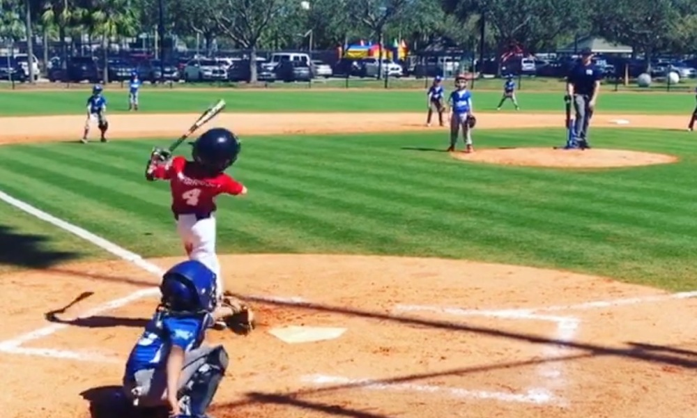 One-armed Florida Little League baseball player Tommy Morrissey (Photo: @onearmgolfer/Instagram screen shot)