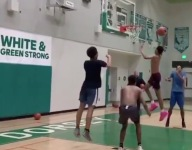 VIDEO: Shaq's son Shaqir O'Neal is now throwing down monster high school dunks in pink shoes