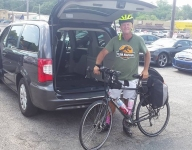 Florida high school tennis coach embarks on 3,700-mile bike ride across America