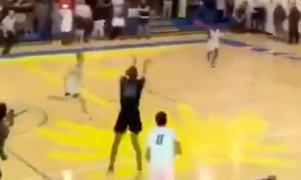 Wellington basketball star De'ante Perez (Photo: @overtime/Twitter screen shot)