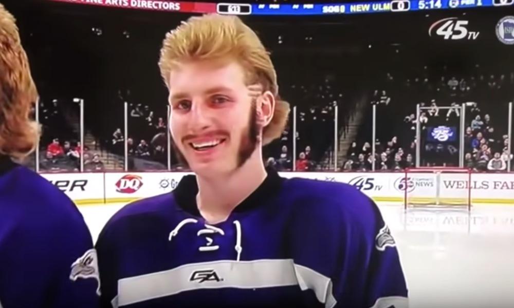 The 2019 Minnesota high school hockey all-hair team (Photo: YouTube screen shot)