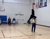 VIDEO: Watch Shaqir O'Neal, Shaq's son, dunk over someone in the paint