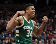 An 11-year-old made artwork for Giannis Antetokounmpo, is brought to tears by his reaction