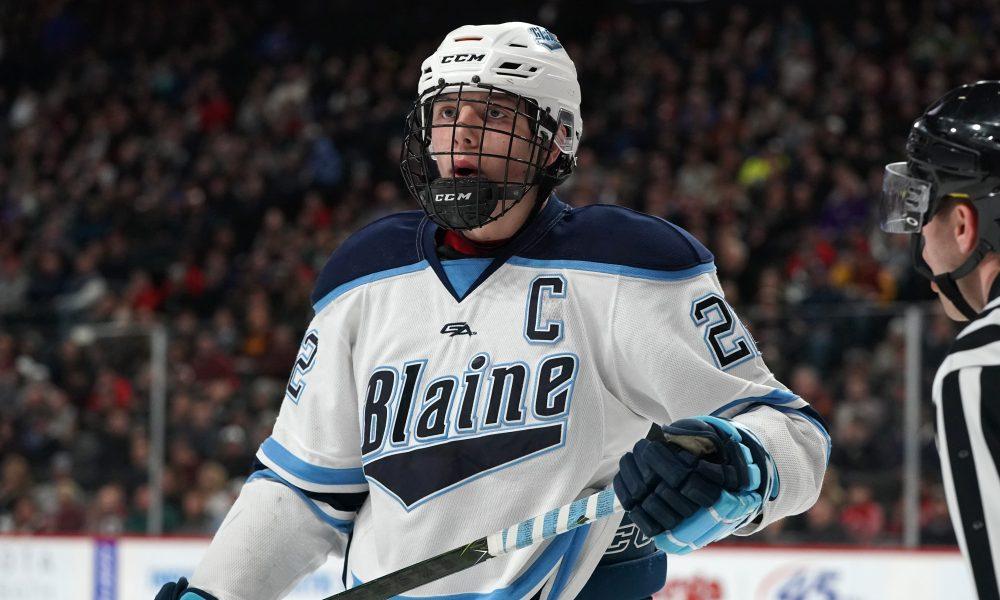 Blaine (Minneapolis, Minn.) forward Bryce Brodzinski named ALL-USA Boys Hockey Player of the Year.